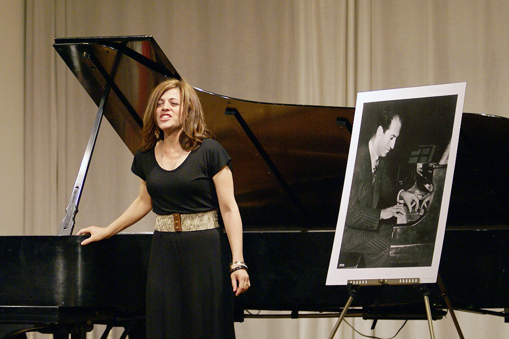Photo Gallery of YM Piano Studio in Central New Jersey. A guest appearance by FRANCESCA GERSHWIN.