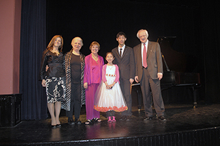 Photo Gallery of YM Piano Studio in New Jersey. From Left to Right: FRANCESCA GERSHWIN, KAREN SALLIANT BYGOTT, SUSAN STARR, JENNIFER LIU, KEVIN JANG, SERGEI POLUSMIAK.